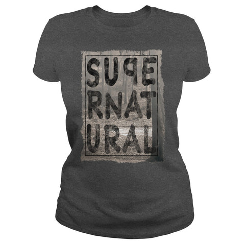 Picture of dark gray Supernatural t-shirt for goddesses.