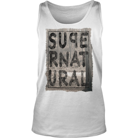 Picture of white Supernatural Dad tank top.