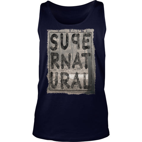 Picture of navy blue Supernatural Dad tank top.