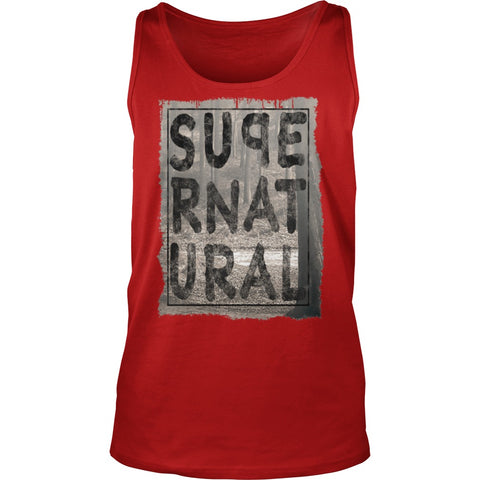 Picture of red Supernatural Dad tank top.