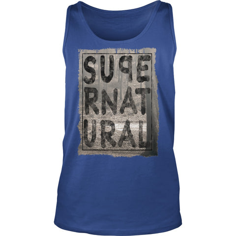 Picture of royal blue Supernatural Dad tank top.