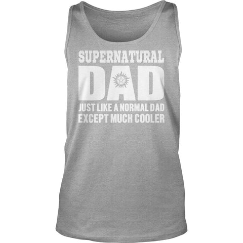 Picture of black Supernatural Dad tank top.