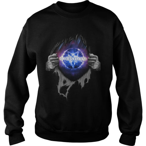 "Picture of black ""Supernatural In My Heart sweatshirt."