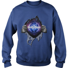 "Picture of royal blue ""Supernatural In My Heart sweatshirt."