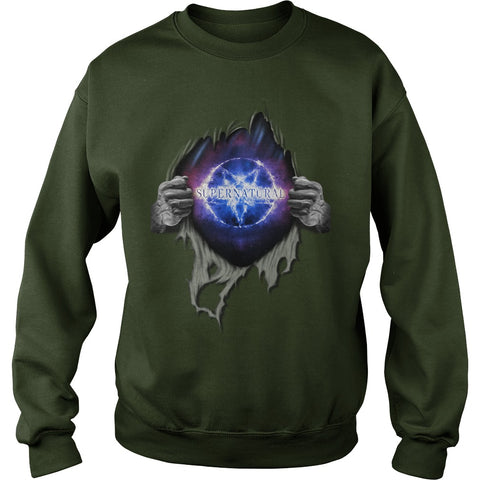 "Picture of forest ""Supernatural In My Heart sweatshirt."