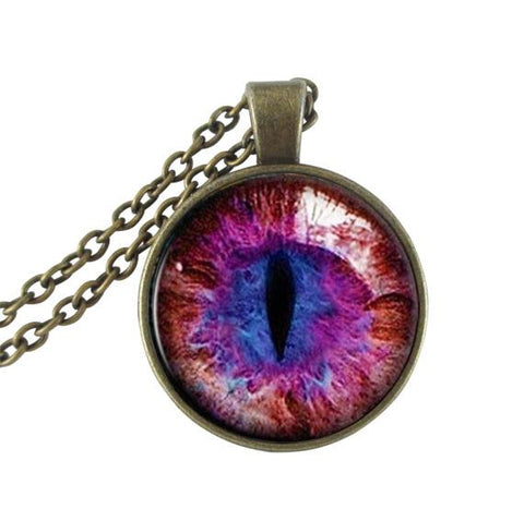 Purple cat's eye necklace.