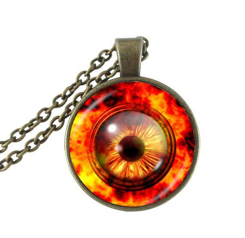 Fire eye necklace.