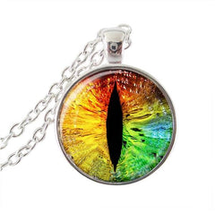 Rainbow cat's eye necklace.