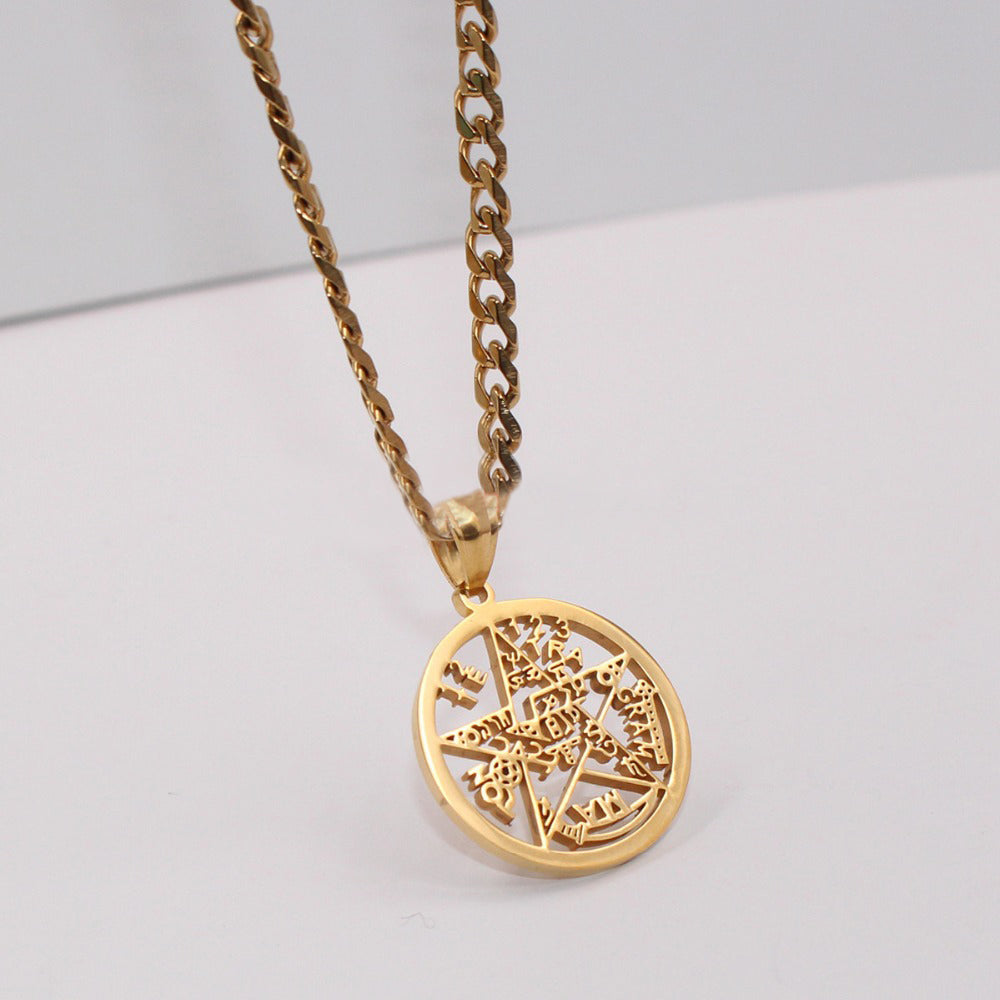 Esoteric pentagram pendant in gold supernaturalblackmarket gold esoteric supernatural pendant with chain aloadofball Gallery