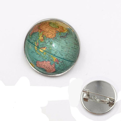 Earth pendant brooch.