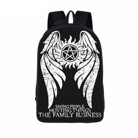 Supernatural backpack - Castiel Wings