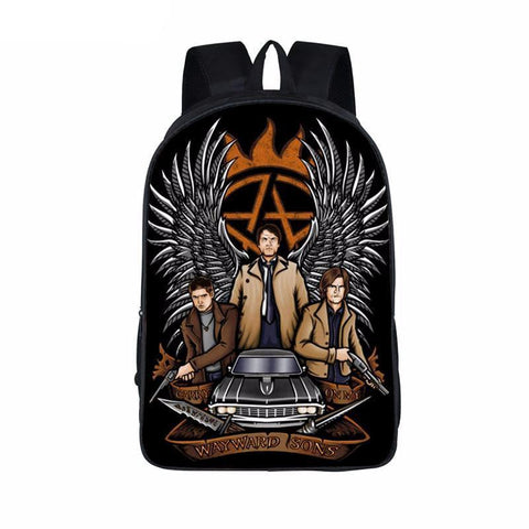 Supernatural backpack - Bobby and the Boys