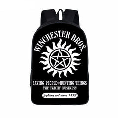 Supernatural backpack -Winchester Brothers Family Business