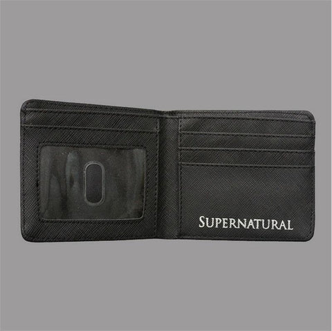 Inside of Supernatural wallet spread open.