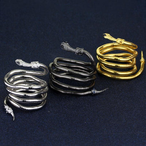 Picture of all three colors of the serpent bracelet.