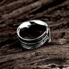 Image of Stainless Steel Feather Ring for Guys