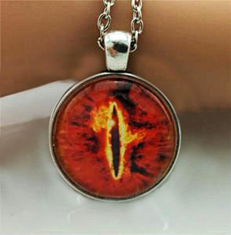 Red cat eye necklace.