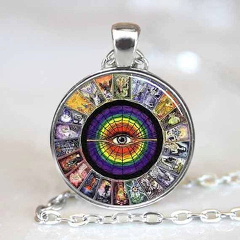 Picture of Tarot Card necklace.