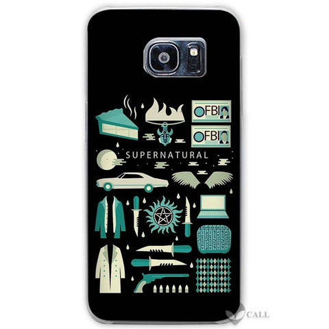 Blue Icons Galaxy phone case.