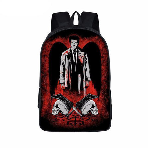 Supernatural backpack -Castiel