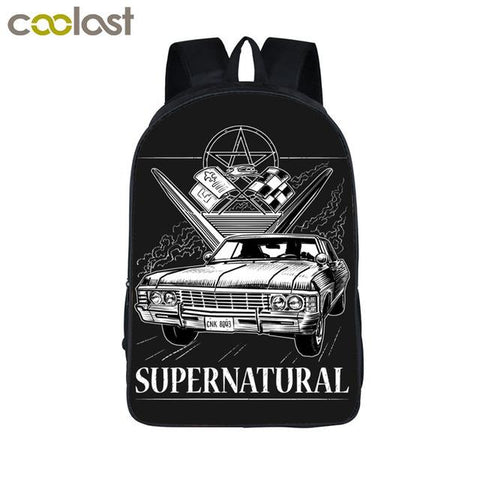 Supernatural backpack - Drawing of Supernatural Impala
