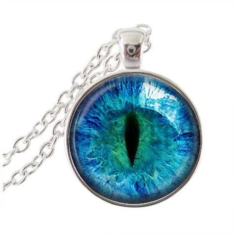 Blue cat's eye necklace.