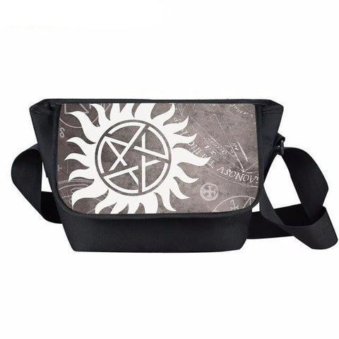 Supernatural messenger bag with anti-possession symbol