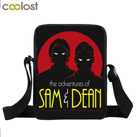Supernatural messenger bag with Winchester Brothers written on it.Sam and Dean