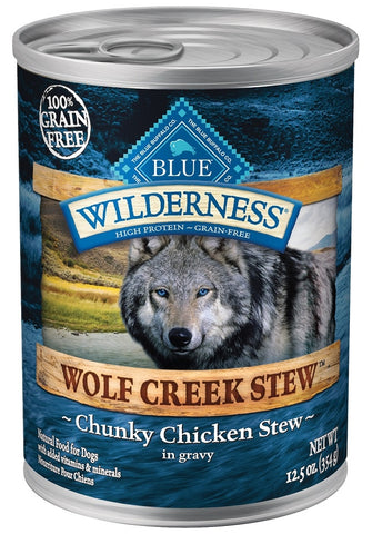 Blue Buffalo BLUE Wilderness Wolf Creek Stew Chunky Chicken Stew Canned Dog Food