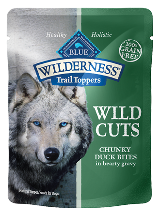 Blue Buffalo BLUE Wilderness Wild Cuts Trail Toppers Chunky Duck Bites in Hearty Gravy Dog Food Pouch