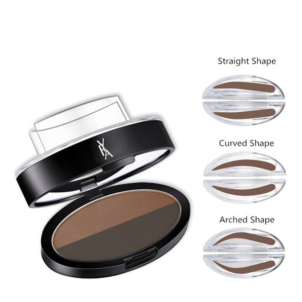 3 Shapes Simple And Quick Waterproof Eyebrow Powder - ilovealma