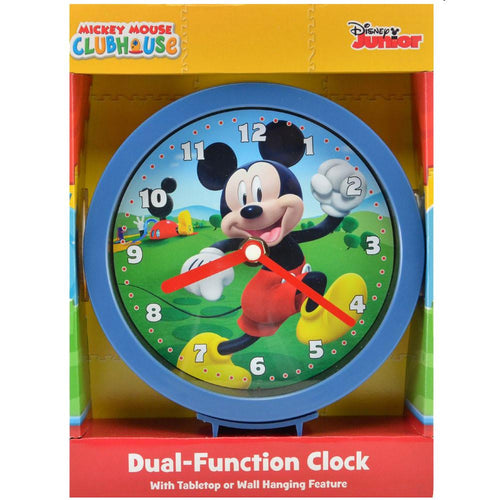 Mickey Mouse Clubhouse Dual-Function Clock with Tabletop or Wall Hanging Feature