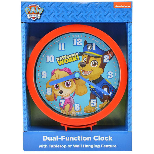 Paw Patrol Dual-Function Clock with Tabletop or Wall Hanging Feature