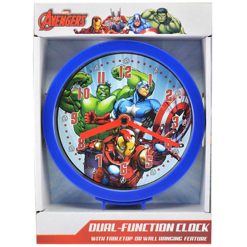 Avengers  Dual-Function Clock with Tabletop or Wall Hanging Feature - ilovealma
