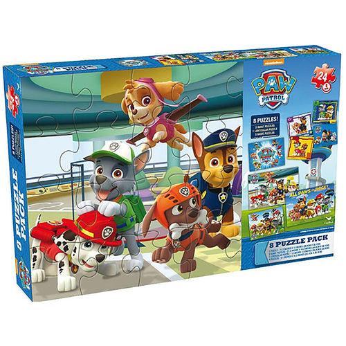 Paw Patrol Puzzles in Cardboard Box (8-Pack)