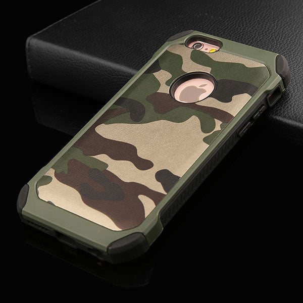 the best attitude 55c52 ad328 6s 2 in 1 Army Camouflage Phone Cases For iphone 4 4s 5 5s SE 6 6s Plus  Armor Case Fashion Hybrid Hard PC + Soft TPU Cover Funda