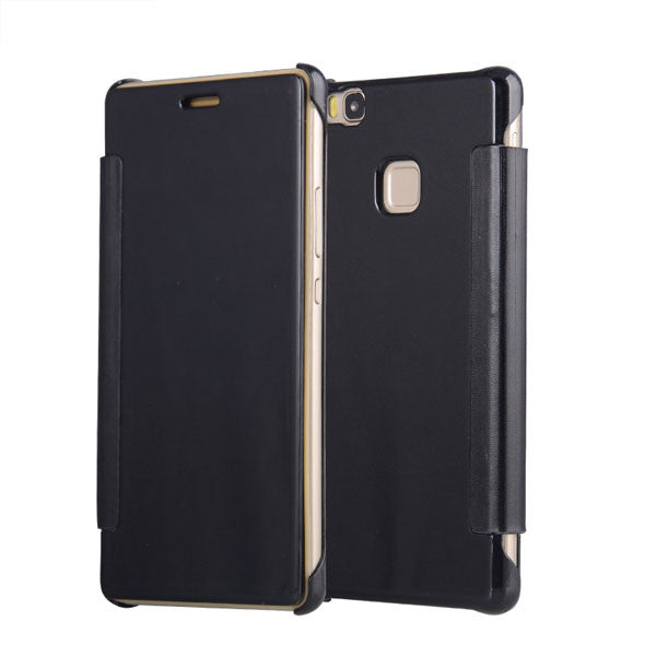watch 65ed6 15780 Luxury Flip Plating Mirror Case For Huawei Ascend P8 Lite Fundas  Electroplating PC Hard Back Cover For Huawei P9 Lite G9 Coque