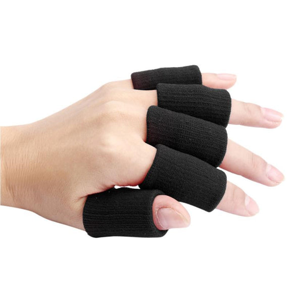 4 Coolor Optional 10pcs Stretch Elastic Basketball Finger Guard Support Wraps Finger Stall Sleeve Protector Protective Gear#FC34 - ilovealma