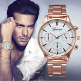 2017 Luxury Watch Men Crystal Stainless Steel Quartz Wrist watches For Man Analog WristWatches Male Clock relogio masculino - ilovealma