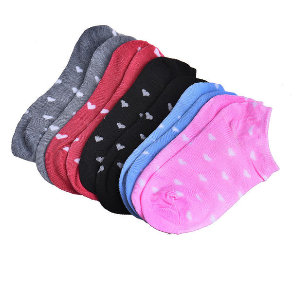 5 Pairs 5ColorsWomens Sports Socks Ankle Low Cut Cotton Socks#W21 - ilovealma