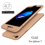 2017 New 360 Case Full Body Protection Capa For fundas iPhone 7 7 Plus Phone Cases Ultra thin Hard PC Front Capa Soft TPU Cover - ilovealma