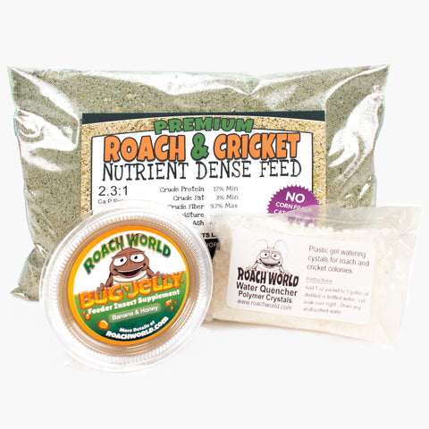 Cricket Food - Roach Food - Dubia Diet - Chow