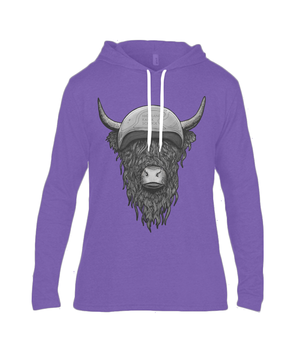 Highland Coo-Long Sleeve Hooded Tee