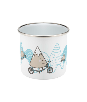 Mountain Biker Enamel Mug