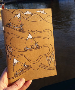 Mountain Biker Notebook - plain pages