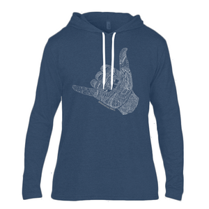 Lads Shaka Yeah Long Sleeve Hooded T-Shirt