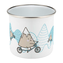 Load image into Gallery viewer, Mountain Biker Enamel Mug