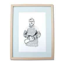 Load image into Gallery viewer, Shackleton - Original ink drawing framed