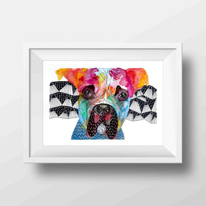 Snoop Rainbow Print
