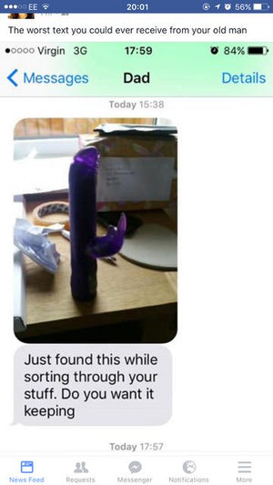 A father finds the sex toys of his daughter - his reaction will never been forgot